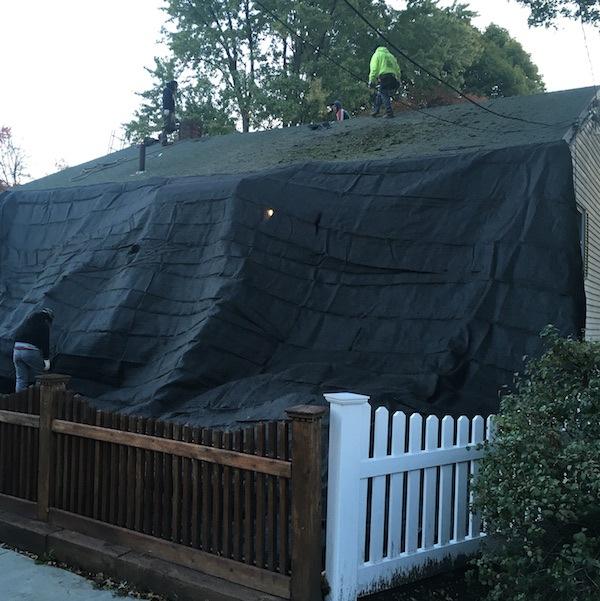 Austin-Street-Hyde-Park-MA-Roof-Install-October-2016-Tarp