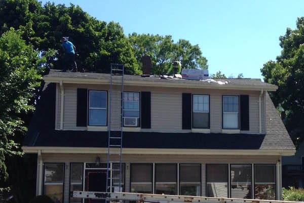 Montclair-Ave-Quincy-MA-Roof-Install-June-2016-During-Front