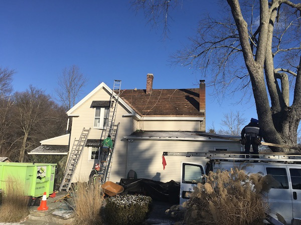 Pleasant-Street-Marlboro-MA-Roof-Install-January-2017-Remove-Old-Shingles