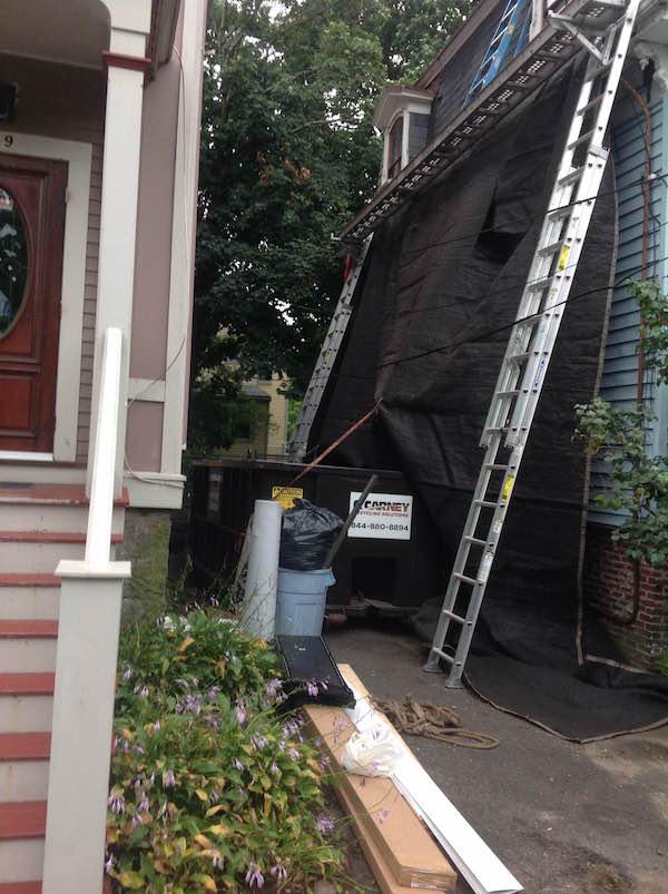 Valentine-Street-Roxbury-MA-Roof-Install-September-2016-Tarp