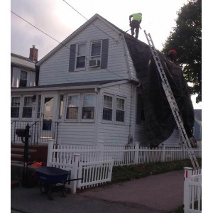 Macy-Street-Quincy-MA-Roof-Install-September-2016-Tarp-2