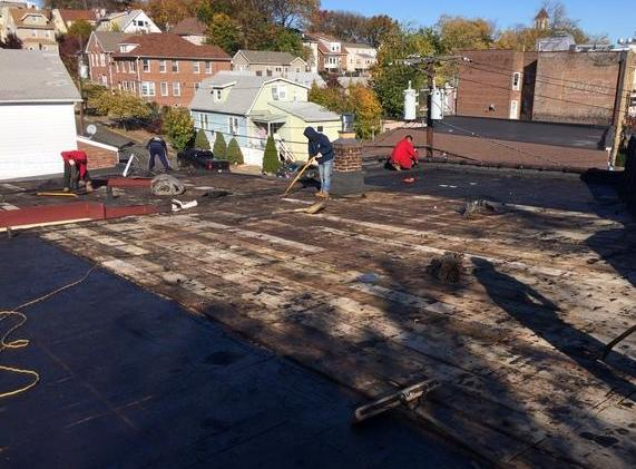 remove old flat roof