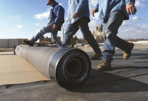 roll out EPDM rubber roofing material