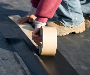 flat roof contractor seam tape