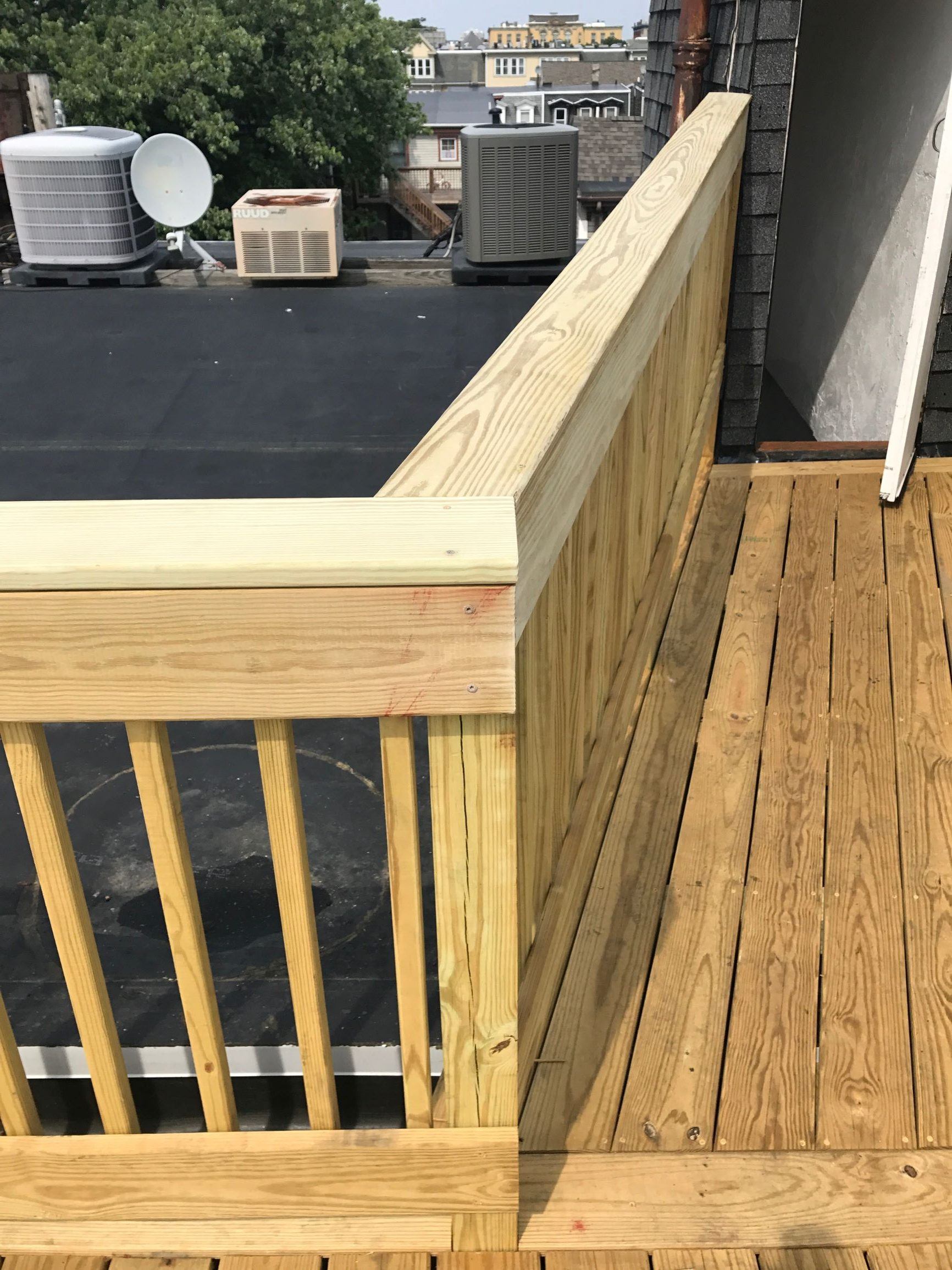 Wood Decking Railings For Roof Patio Roof Hub