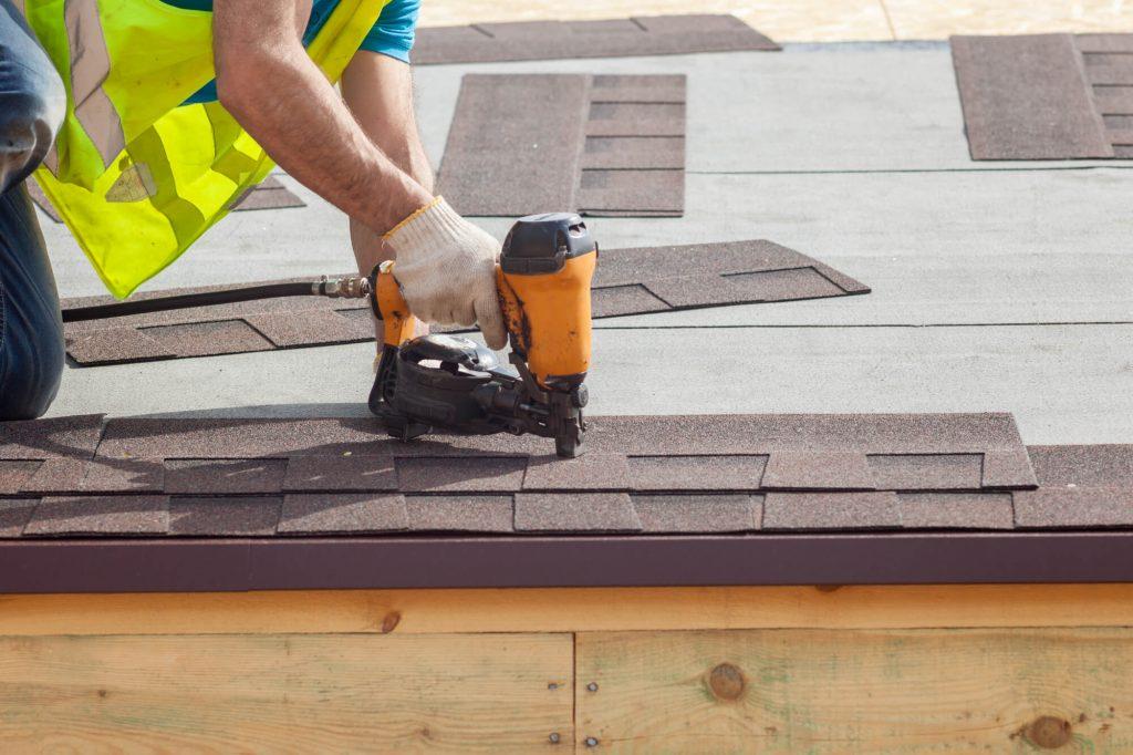 architectural shingle nailing using roofing nail gun